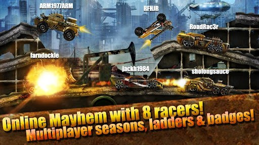 road warrier multiplayer racing app