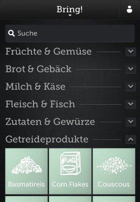 bring einkauflisten app
