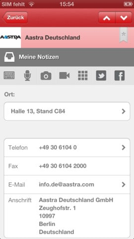 cebit app notizen