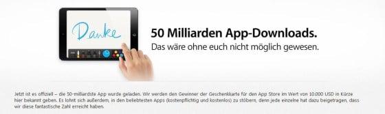 50 Milliarden App Downloads