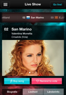 eurovision song contest app live show