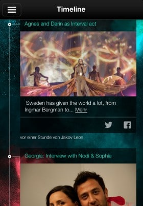 eurovision song contest app timeline