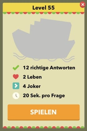 Wahr oder Falsch - Das Spiel Level 55