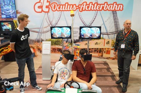 Oculus Rift Achterbahn