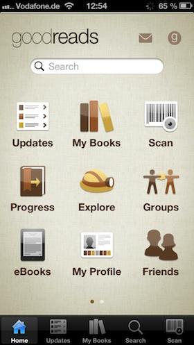 goodreads_app_menü