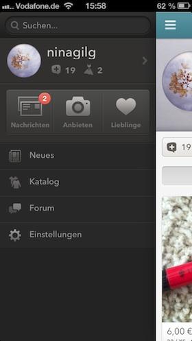 kleiderkreisel_app_menü