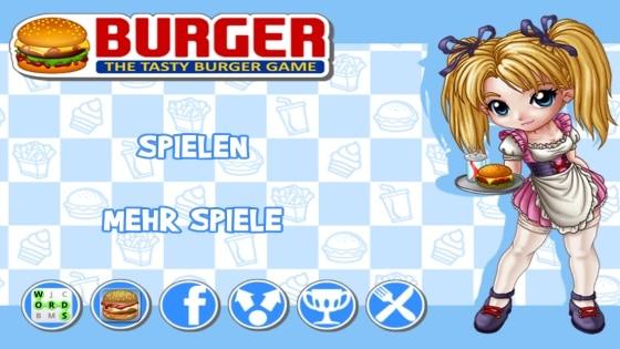 burger app startscreen