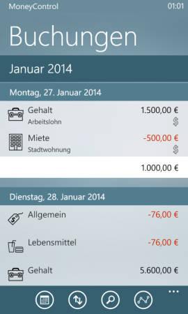 MoneyControl_buchungen
