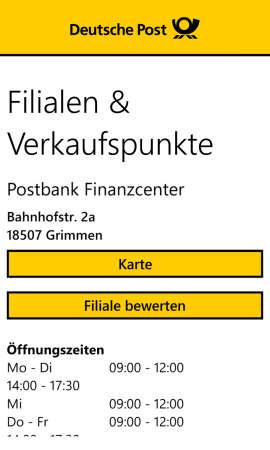 PostApp_Filialen