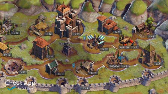Alle Gebäude von Throne Wars