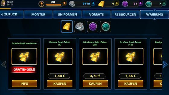 Avengers_Alliance_App_Android_Helden_Gold_verdienen_kaufen