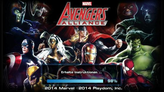 Avengers_Alliance_App_Android_Helden_Test_Startscreen