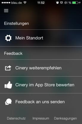 Cinery_App_Check_Kinoprogramm_Deutschland_Filme_Kinos_Umkreis_Einstellungen