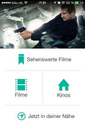 Cinery_App_Check_Kinoprogramm_Deutschland_Filme_Kinos_Umkreis_Startmenue
