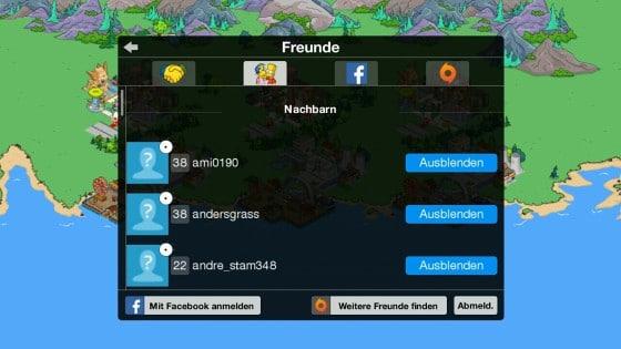 Simpsons_App_Freunde_loeschen_FP_anzeigen