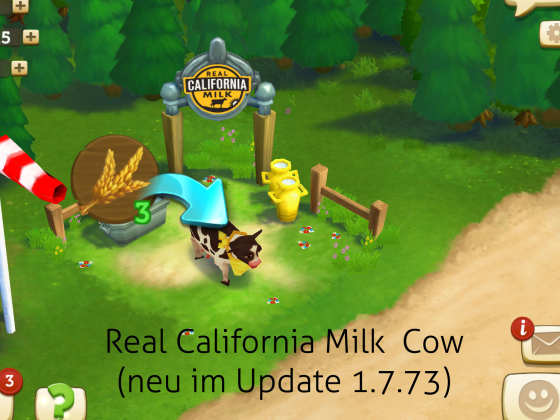 California Real Milk Cow Farmville 2 App