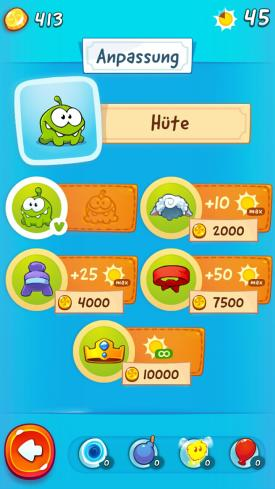 Cut_The_Rope_2_App_Android_iPhone_Check_Anpassung_Huete