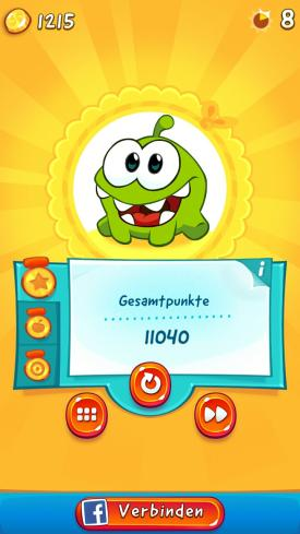 Cut_The_Rope_2_App_Android_iPhone_Check_Level_geschafft