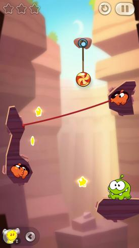 Cut_The_Rope_2_App_Android_iPhone_Check_Om_Nom_trifft_Lick