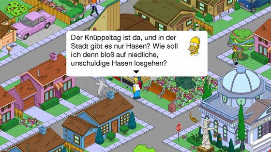 Die_Simpsons_Springfield_Ostern_Update_2014_Hasen_erscheinen