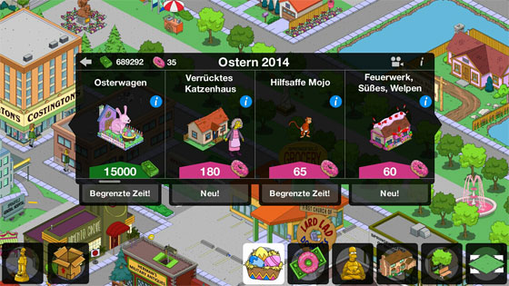 Die_Simpsons_Springfield_Ostern_Update_2014_Ostern_Neue_Items