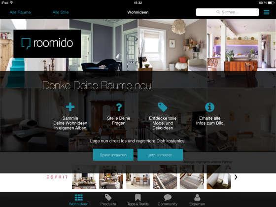 Roomido_App_Anmeldung