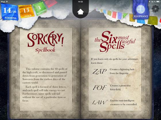 Sorcery_2_Steve_Jackson_inkle_Check_App_Test_Zauberbuch