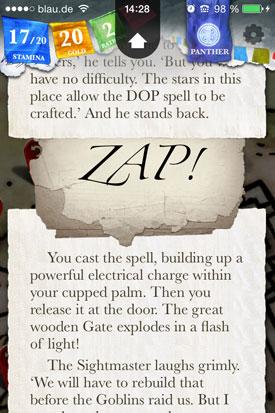 Sorcery_Teil_1_App_Check_Auswahl_Zauber
