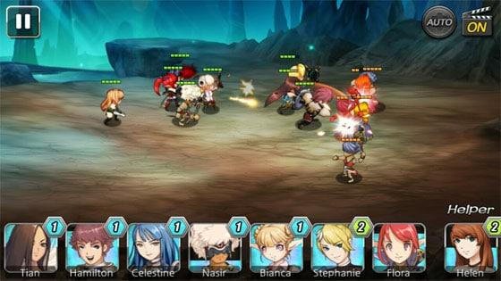 Summon_Masters_App_Karten_Strategie_Rollenspiel_Kampfbildschirm