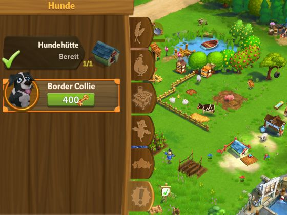 farmville 2 border collie hundstage