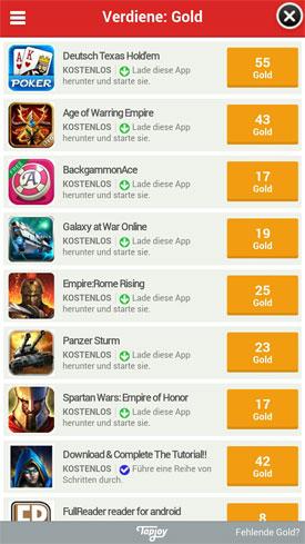 Ayakashi_Ghost_Guild_App_Android_iOS_Fantasy_Kartensammelspiel_Angebot_Tapjoy_Gold_Gratis