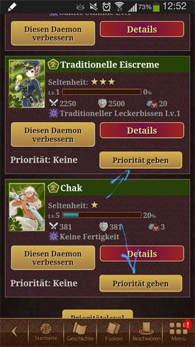 Ayakashi_Ghost_Guild_App_Android_iOS_Fantasy_Kartensammelspiel_Prioritaeten_einstellen