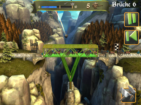 Bridge Constructor Mittelalter Level 6