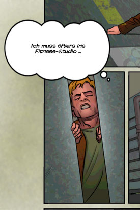 MacGyver_Toedlicher_Abstieg_App_iOS_Android_Comic_Fitnessstudio