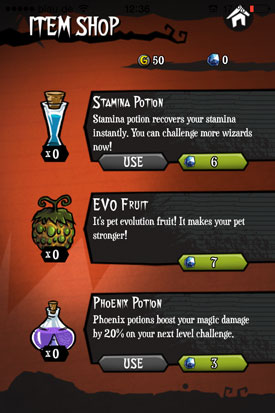 Sorcery_Craft_App_iOS_Item_Store