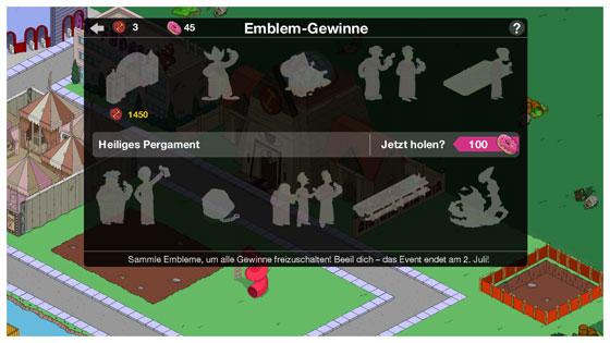 Die_Simpsons_Springfield_Steinmetze_Update_Embleme_Belohnungen