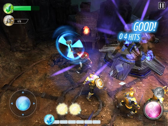 Thor-TDK_App_Action_Game_Gameloft_Hammer_schwingen