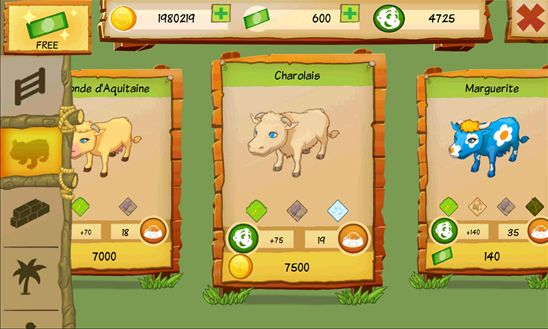 cow park tycoon app rassen