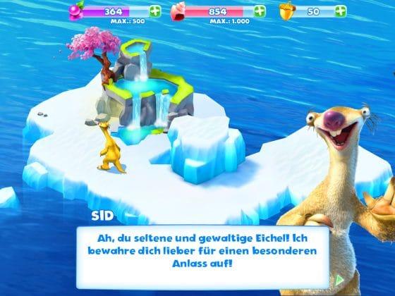 ice age adventures eicheln