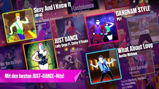 just dance now app songs