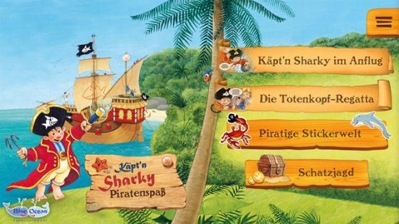 Kaeptn Sharky Piratenspass zum Lesen und Spielen