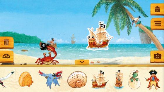 Kaptn Sharky Piratenspass zum Lesen und Spielen App