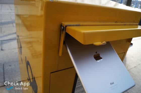 Mal wieder das iPad verschicken?