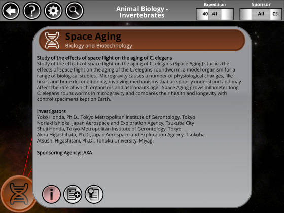 NASA_Space_Station_Research_Explorer_Space_Aging