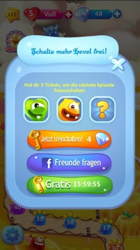 jolly jam level freischalten tickets