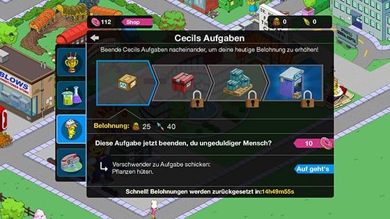 Die_Simpsons_Springfield_Terwilliger_Event_Cecils_Aufgaben