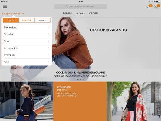 Zalando_App_Auswahl
