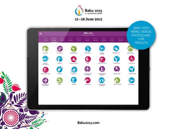Offizielle Baku 2015 App European Games