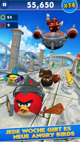 sonic dash angry birds epic 2