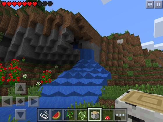 Minecraft_PE_Wasserfall